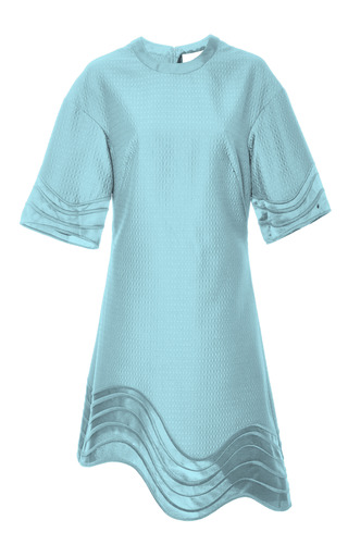 3.1 Phillip Lim - Crew Neck Dress With Embroidered Hem And Sleeves