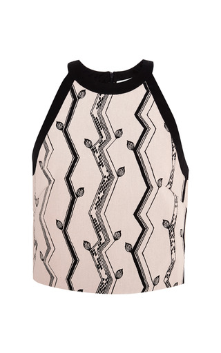 Cut-in crop top in pink and black by 3.1 PHILLIP LIM for Preorder on Moda Operandi