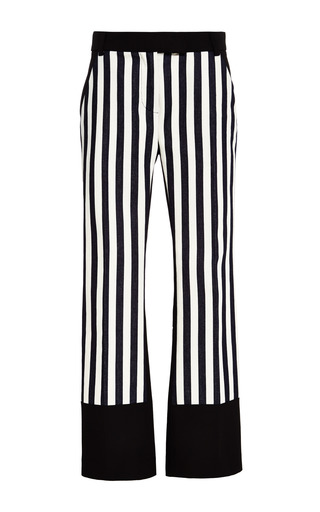 Striped pant in navy and ivory by 3.1 PHILLIP LIM for Preorder on Moda Operandi