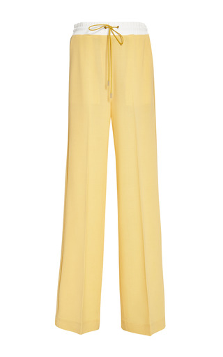 Wide leg pant with drawstring in buttercup by 3.1 PHILLIP LIM Preorder Now on Moda Operandi