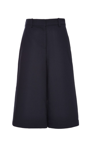 Culottes with top stitch detail in navy by 3.1 PHILLIP LIM Preorder Now on Moda Operandi