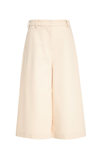 Culottes with top stitch detail in soft peach by 3.1 PHILLIP LIM Preorder Now on Moda Operandi
