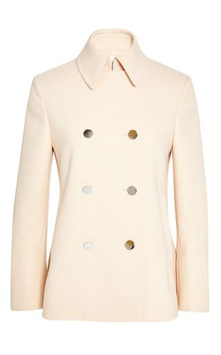 Shrunken a-line pea coat in soft peach by 3.1 PHILLIP LIM Preorder Now on Moda Operandi