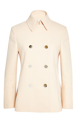 Shrunken a-line pea coat in soft peach by 3.1 PHILLIP LIM for Preorder on Moda Operandi
