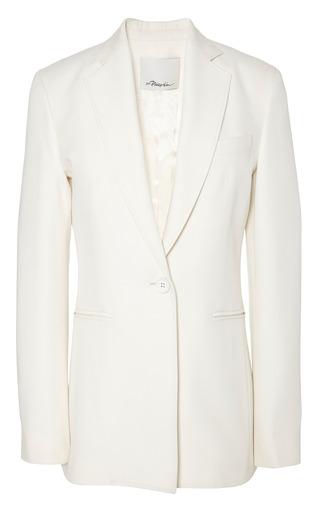 Cut away single button blazer in ivory by 3.1 PHILLIP LIM for Preorder on Moda Operandi