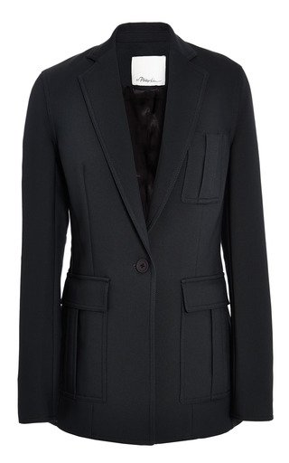 Cut Away Blazer With Patch Pocket In Charcoal by 3.1 PHILLIP LIM for Preorder on Moda Operandi