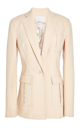 Cut Away Blazer With Patch Pockets In Soft Peach by 3.1 PHILLIP LIM for Preorder on Moda Operandi