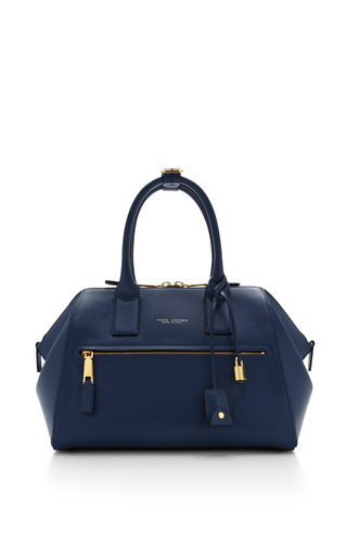Medium smooth incognito bag in blue by MARC JACOBS for Preorder on Moda Operandi