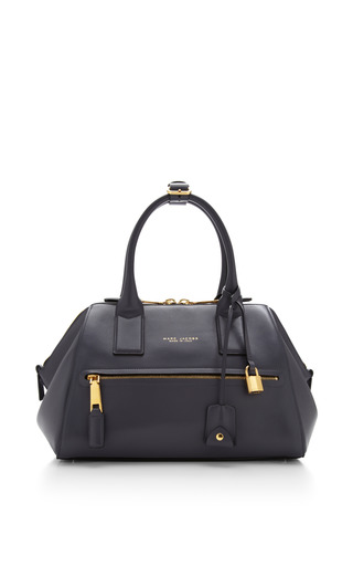 Small smooth incognito bag in grey by MARC JACOBS for Preorder on Moda Operandi