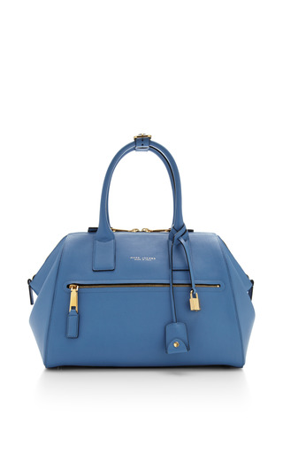 Medium textured incognito bag in sky by MARC JACOBS for Preorder on Moda Operandi