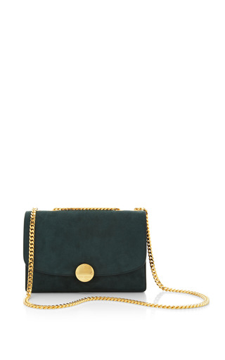 Suede trouble bag in forest by MARC JACOBS for Preorder on Moda Operandi