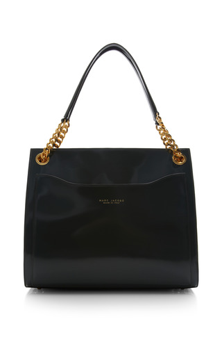 Le grand shopping bag in polished forest by MARC JACOBS for Preorder on Moda Operandi