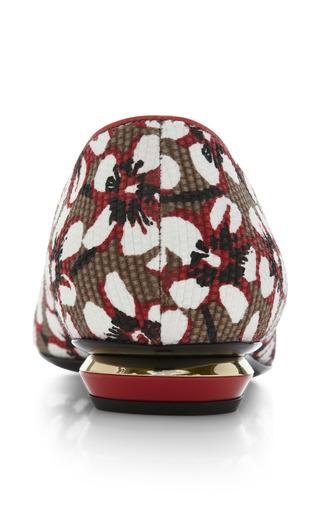 Season Hexagon Skimmer In Red Floral by Nicholas Kirkwood for Preorder on Moda Operandi