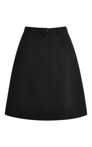 Crepe Mini Skirt by Wes Gordon for Preorder on Moda Operandi