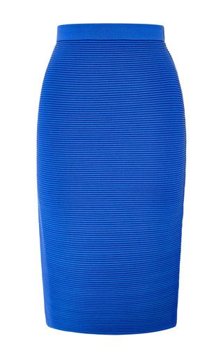 Blue knit rib pencil skirt by JONATHAN SIMKHAI Preorder Now on Moda Operandi