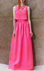 Honor Open Back Crop Top In Neon Pink by Honor for Preorder on Moda Operandi