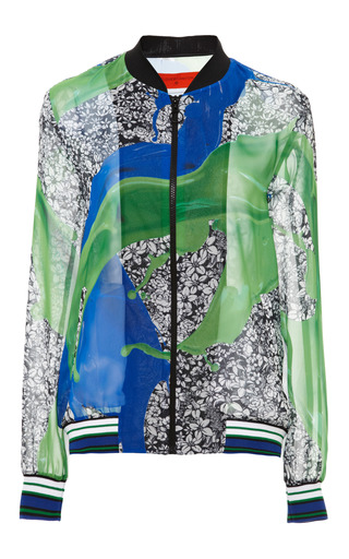 Wallpaper splash jacket by CLOVER CANYON Preorder Now on Moda Operandi