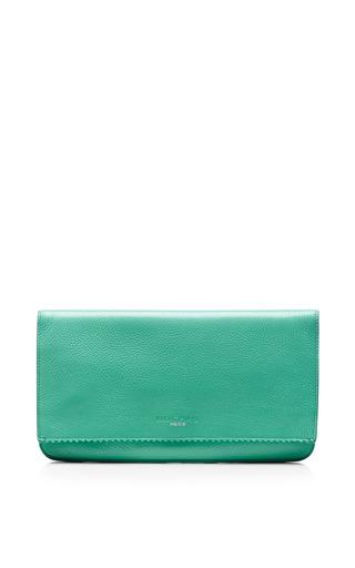 Seafoam envelope clutch by ROCHAS Preorder Now on Moda Operandi