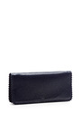 Midnight Blue Continental Chain Wallet by Rochas for Preorder on Moda Operandi