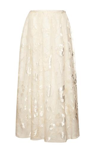 Sangallo lace skirt with velvet flowers by ROCHAS Preorder Now on Moda Operandi