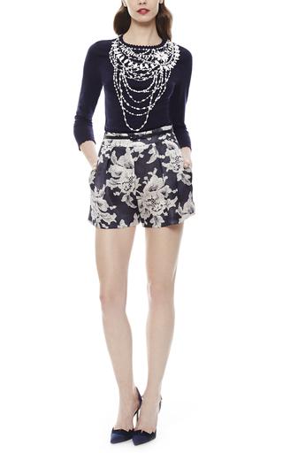 Carolina Herrera - Lace Brocade Print Short