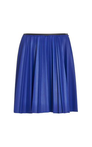 Fantasy print light blue faux leather skirt by CéDRIC CHARLIER Preorder Now on Moda Operandi