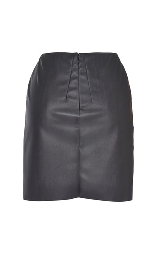 Fantasy Print Grey Faux Leather Skirt by Cédric Charlier for Preorder on Moda Operandi