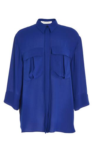 Fantasy print light blue crepe shirt by CéDRIC CHARLIER Preorder Now on Moda Operandi