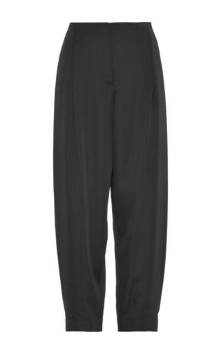 Black satin pant by CéDRIC CHARLIER Preorder Now on Moda Operandi