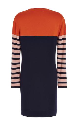 Cédric Charlier - Blue Orange Nude Knit Dress