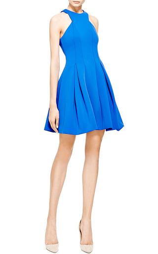 Cushnie et Ochs - Cushnie Et Ochs Neoprene Blue Violet A-Line Dress