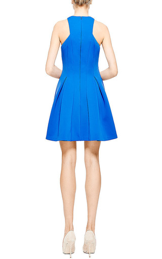 Cushnie Et Ochs Neoprene Blue Violet A-Line Dress by Cushnie et Ochs for Preorder on Moda Operandi
