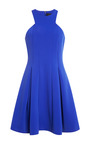Cushnie Et Ochs Neoprene Blue Violet A Line Dress by CUSHNIE ET OCHS for Preorder on Moda Operandi