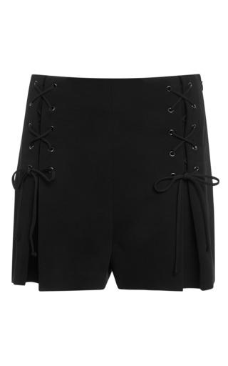 Power viscose black shorts by CUSHNIE ET OCHS Preorder Now on Moda Operandi