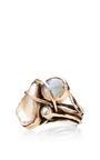 Sandra Dini - One Of A Kind 12K Gold Ring With Pearl, Labradorite And White Topaz