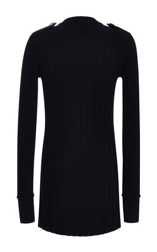 Black Merino Wool Long Sweater by Derek Lam for Preorder on Moda Operandi