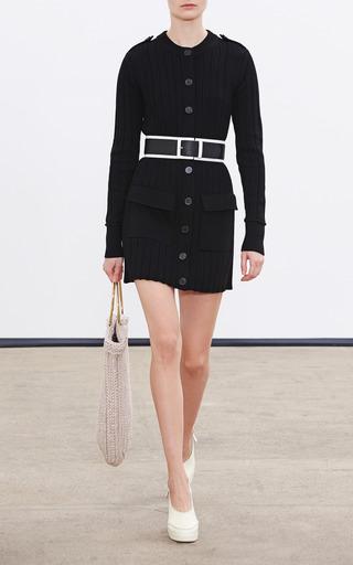 Black Merino Wool Long Sweater by Derek Lam for Preorder on Moda Operandi