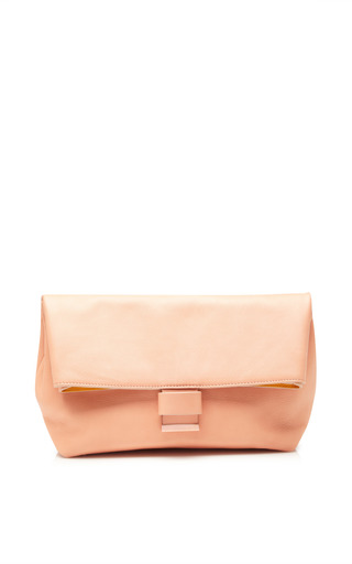 Fantasy print pink clutch by CéDRIC CHARLIER Preorder Now on Moda Operandi