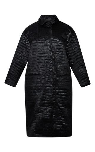 Crocodile satin coat by NINA RICCI Preorder Now on Moda Operandi