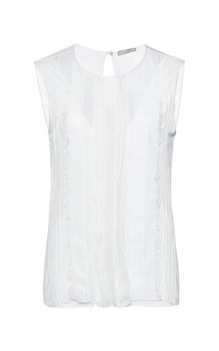 Jersey and lace top by NINA RICCI Now Available on Moda Operandi