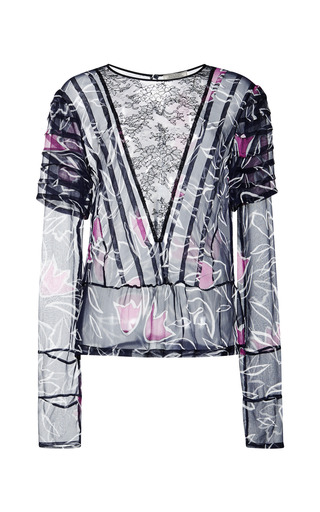 Printed chiffon blouse by NINA RICCI Preorder Now on Moda Operandi