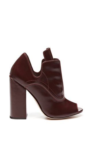 Ellery burgundy boardwalk boot by ELLERY Preorder Now on Moda Operandi