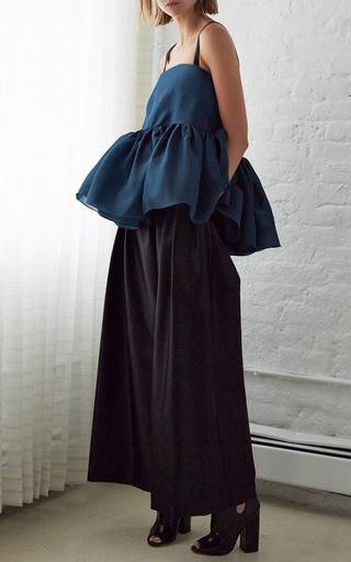 Ellery Teal And Black Marine Top by Ellery for Preorder on Moda Operandi