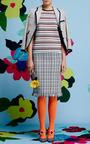 Seed Stitch Short Sleeve Raglan Crewneck T-Shirt In Rwb Stripe by Thom Browne for Preorder on Moda Operandi
