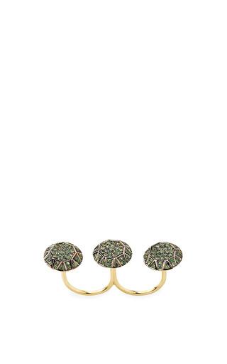 Ileana Makri - Gem Knuckle Ring In Green