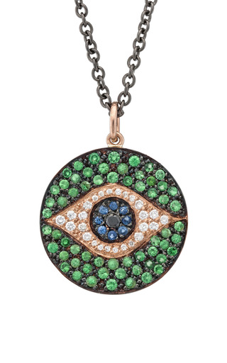 Dawn Pendant In Green by Ileana Makri for Preorder on Moda Operandi
