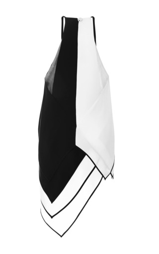 Silk Crepe Scarf Tunic by Monique Lhuillier for Preorder on Moda Operandi