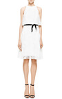 Monique Lhuillier - Monique Lhuillier Sleeveless A-Line Dress With Overlay
