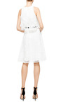 Monique Lhuillier Sleeveless A Line Dress With Overlay by MONIQUE LHUILLIER for Preorder on Moda Operandi