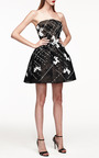 Strapless Cocktail Dress With Horsehair Skirt by Monique Lhuillier for Preorder on Moda Operandi